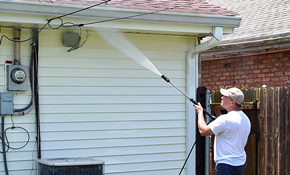 $285 Home Exterior Pressure Washing