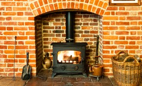 $159 for a Wood or Pellet Stove and Chimney Cleaning