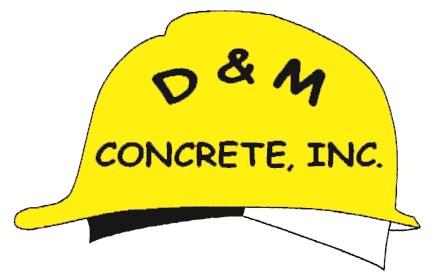 D & M Concrete logo
