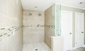 $2,799 for a Ceramic Tile Shower Replacement, Including Labor and Materials