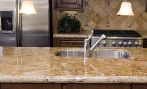 $5,500 for Custom Natural Stone Countertops - Installation and Materials Included
