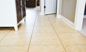$393 for 300 Square Feet of Tile and Grout Cleaning, with 2 Sinks