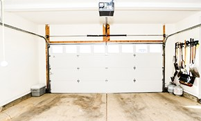 $448 Garage Door Spring and Roller Replacement, Including Cables and Pulleys