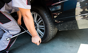 $40 for a Tire Rotation and Wheel Balance Plus Courtesy Inspection