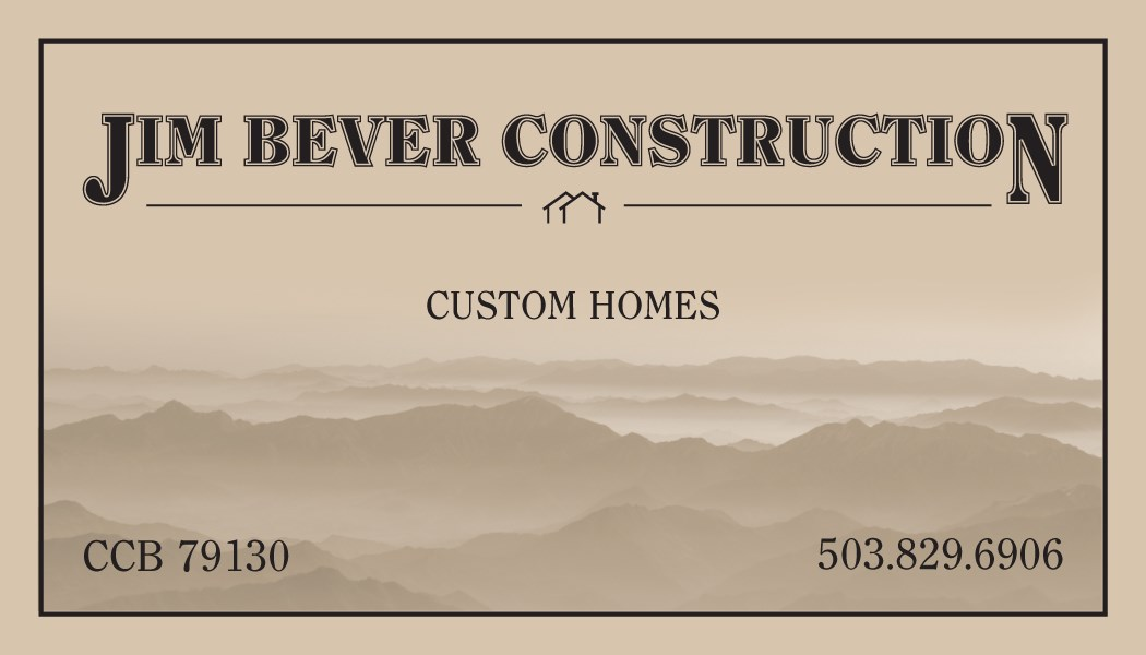 JIM BEVER CONSTRUCTION logo