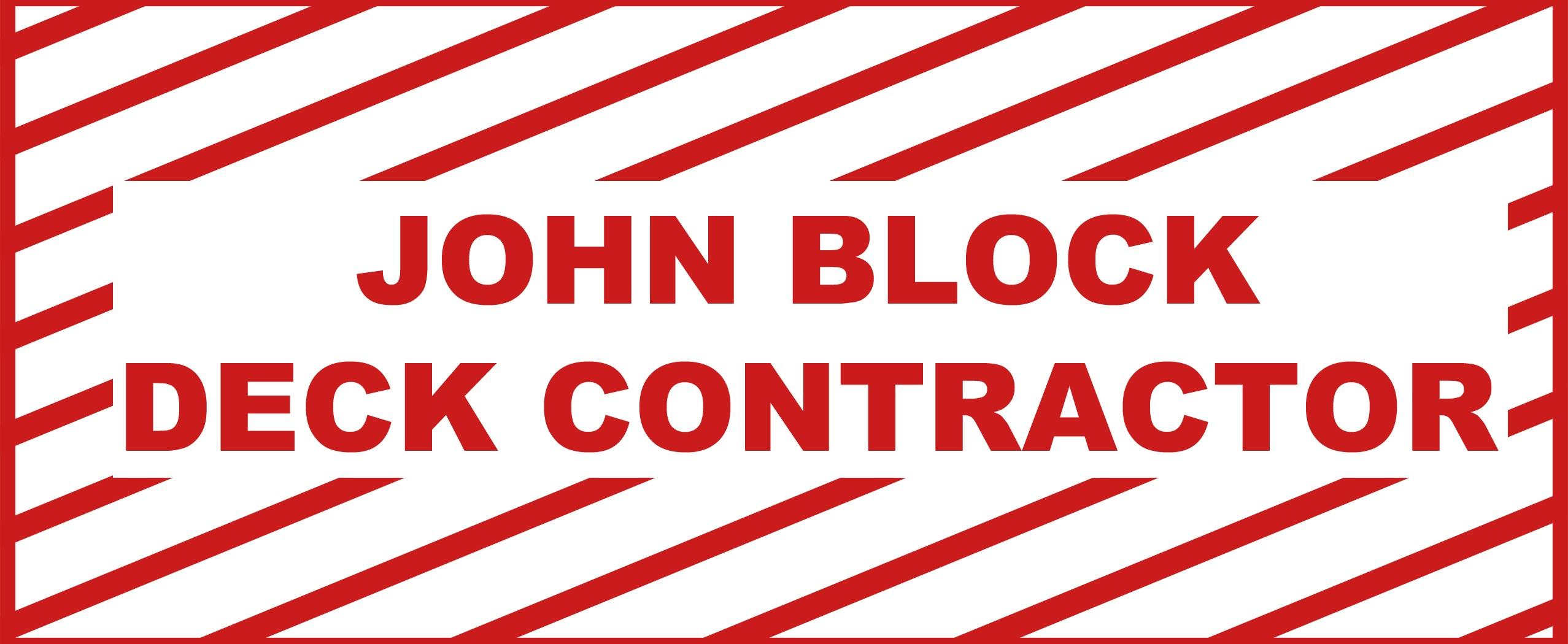 JOHN BLOCK DECK CONTRACTOR logo