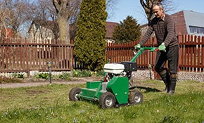 $270 for Lawn Aeration, Overseeding, and Fertilization