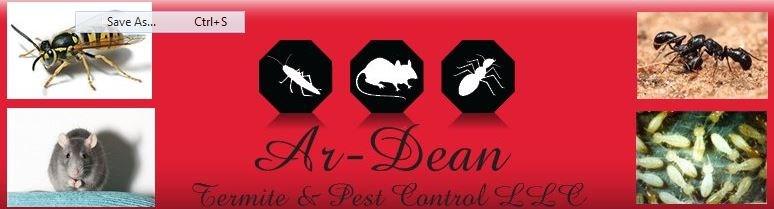 AR-DEAN TERMITE & PEST CONTROL logo
