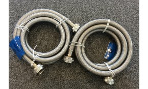$86 for a Service call and Basic Water Inlet Hoses