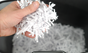 $138 for Document Shredding Services