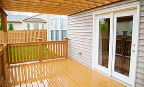 $2,999.00 for 10'x12' Pressure Treated Wood Deck Installation