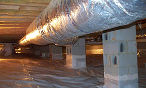 $1620 for 600 Square Feet of Crawl Space Encapsulation