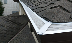 $1100 for Gutter Cleaning and Leaf Relief Installed
