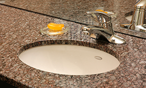 $285 for Honing and/or Polishing a Marble or Limestone Single Sink Vanity