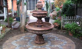 $1,500 for a Circular Concrete Paver Patio with Flower Accent up to 10' in Diameter Delivered and Installed