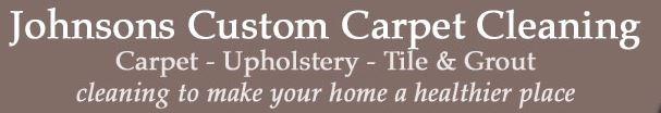 JOHNSON'S CUSTOM CARPET CLNG logo