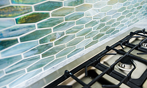 $600 for Installation & Grout of a New Natural Stone Backsplash