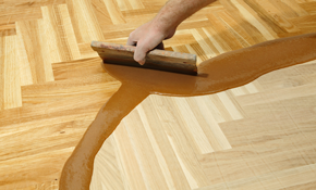 $900 for Hardwood Floor Preparation and Re-coating, Including Materials