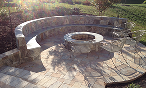 $1,999 for a Ventetian Stone Patio or Walkway Delivered and Installed (100 sq ft)_