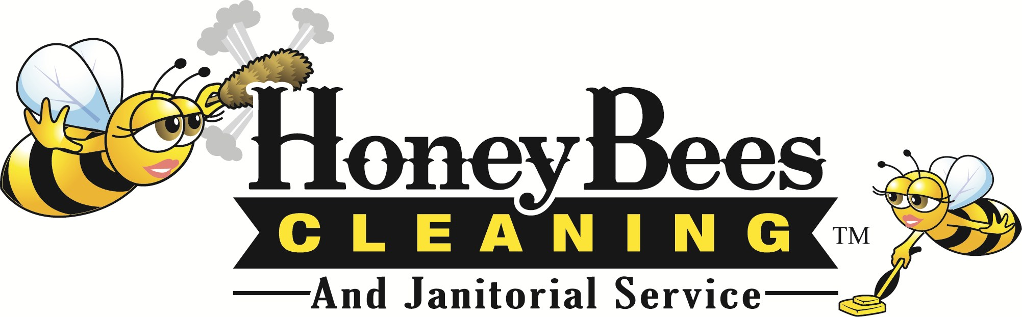 Honey Bees Cleaning & Janitorial Service TM logo