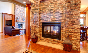 $1,199 for Stone Fireplace Face with Installation and Materials Included
