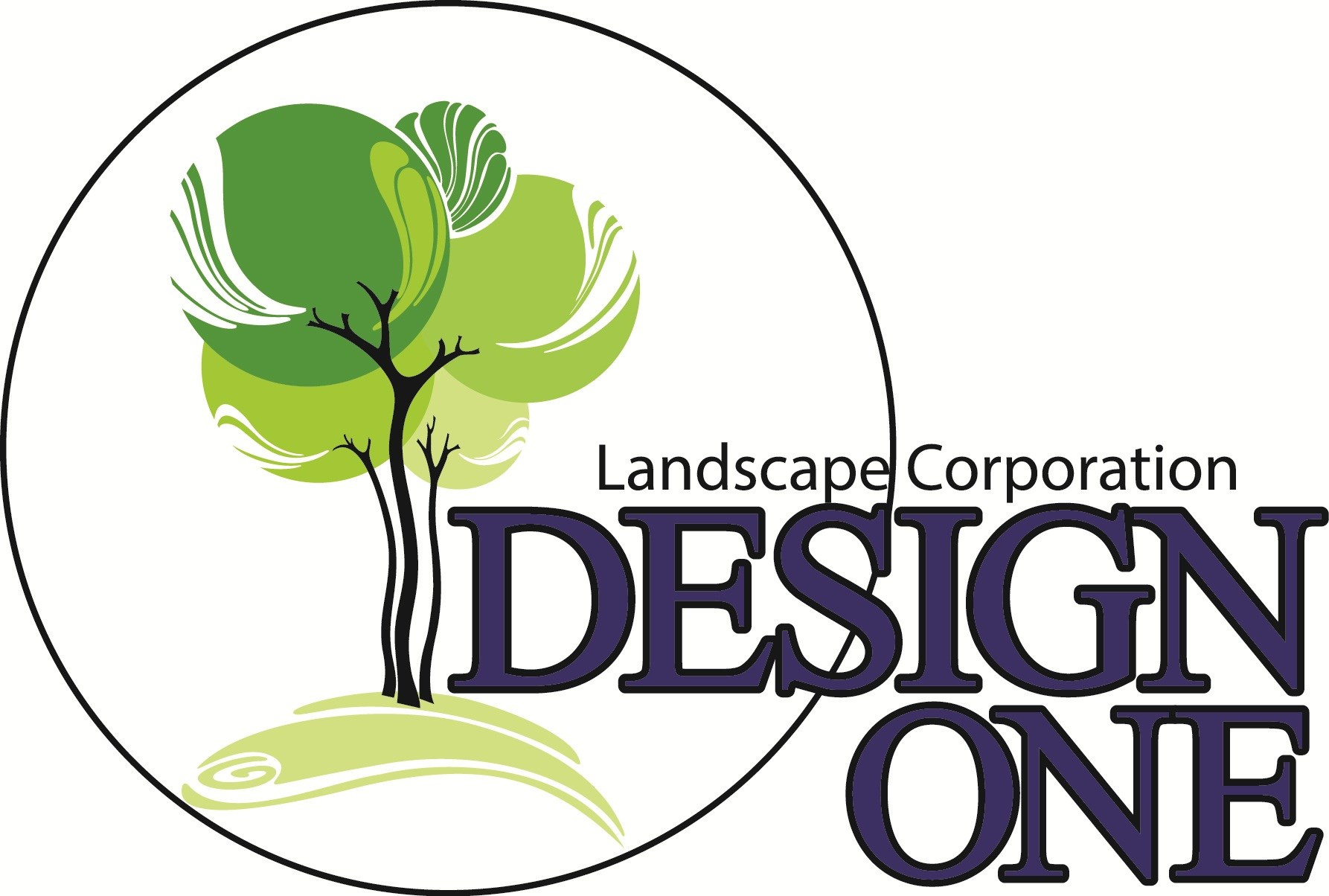 Design One Landscape Services logo