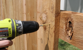 $175 for a Wooden Fence Maintenance Package