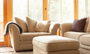 $118 for Upholstery Cleaning of a Sofa and Love Seat