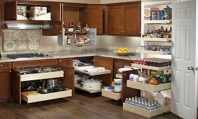 $450 for $500 Credit Toward Custom Glide-Out Shelving for Existing Cabinetry