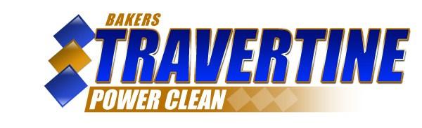 Baker���s Travertine Power Clean logo