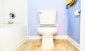 $379 for a New Toilet Installed