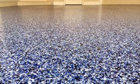 $1,700 Garage Floor Platinum Quartz Finishing for 2-Car Garage