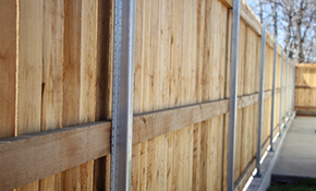 $2,525 for 150 Linear Feet Of Wood Privacy Fencing