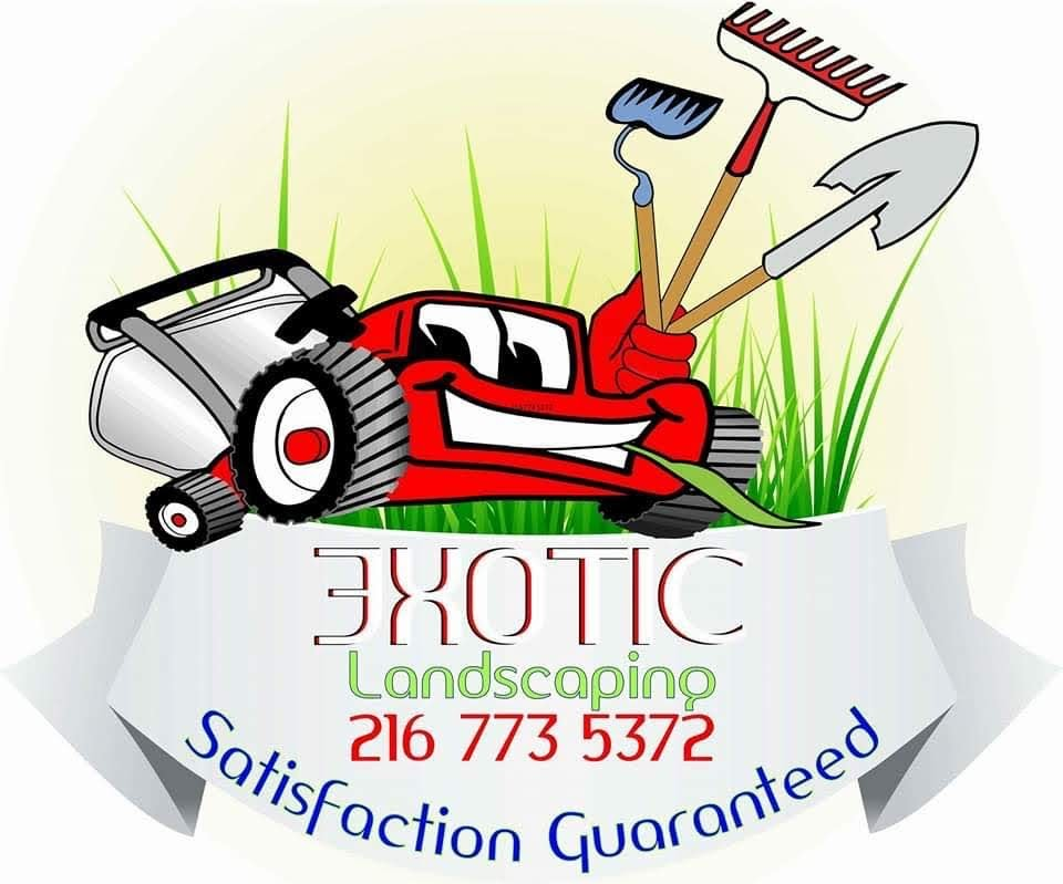 Exotic landscaping llc logo