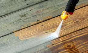 $295 for Deck Pressure Washing, Including Stripping of Old Coatings