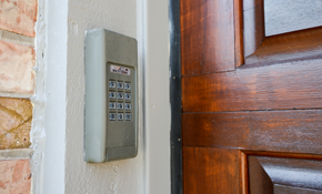 $265 Touchscreen Deadbolt Installed and Security Inspection