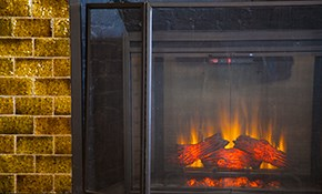 $275 Gas Log Fireplace Cleaning and Inspection