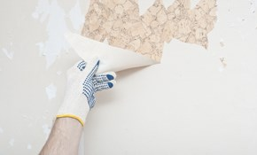$1,080 for eight labor hours of Wallpaper Removal and Covering-Priming, Texturing and Painting