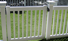 $230 for a Closed Picket Vinyl Fence Gate up to 4' X 3' wide