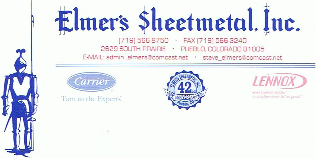 Elmer S Sheet Metal Inc Reviews Pueblo Co Angie S List