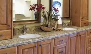 $395 for Honing and/or Polishing a Marble or Limestone Double Sink Vanity
