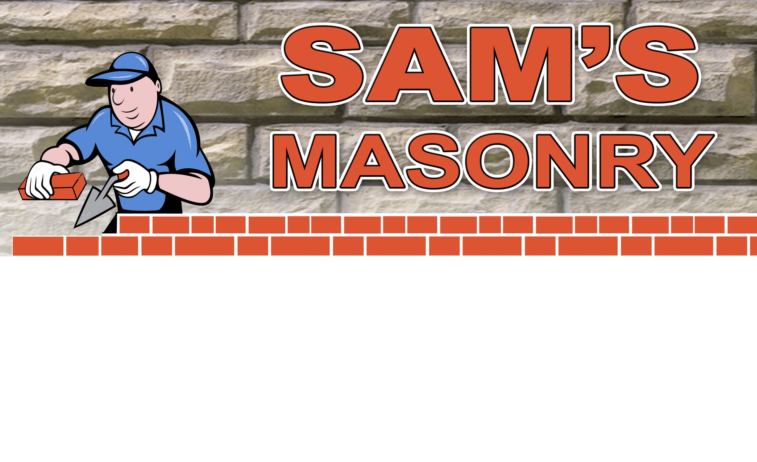 Sam's Masonry logo