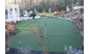 "Premium 9/16"" Nylon Synthetic Putting Green Installation - 15' x 30' w/ 3 cup holes"