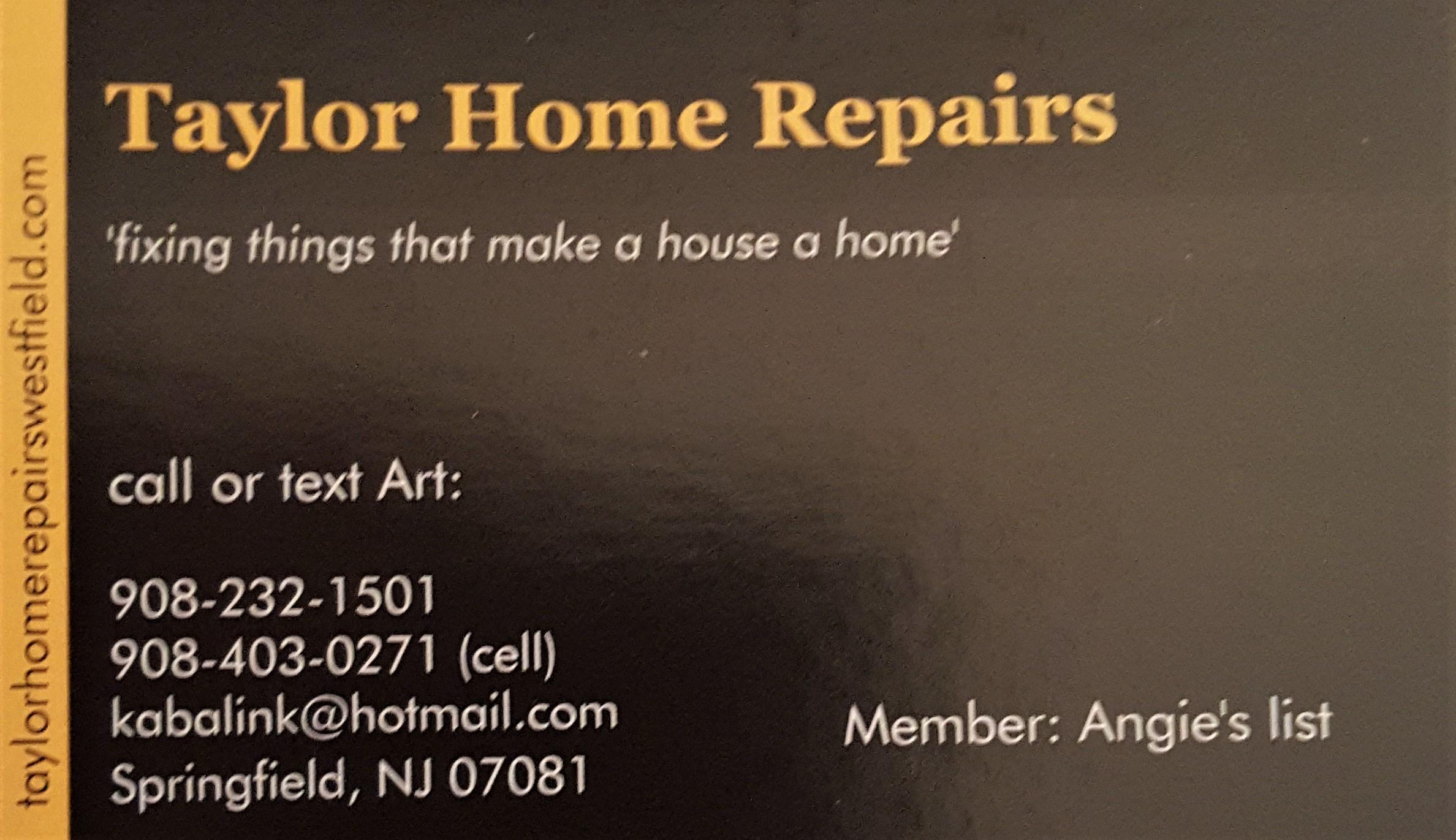 TAYLOR HOME REPAIR logo
