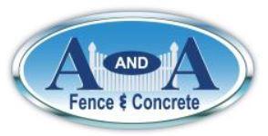 A and A Fence & Concrete logo