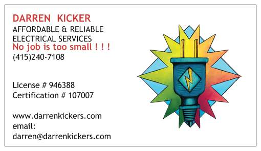 Darren Kicker's Affordable & Reliable Electrical logo