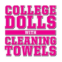 College Dolls with Cleaning Towels logo