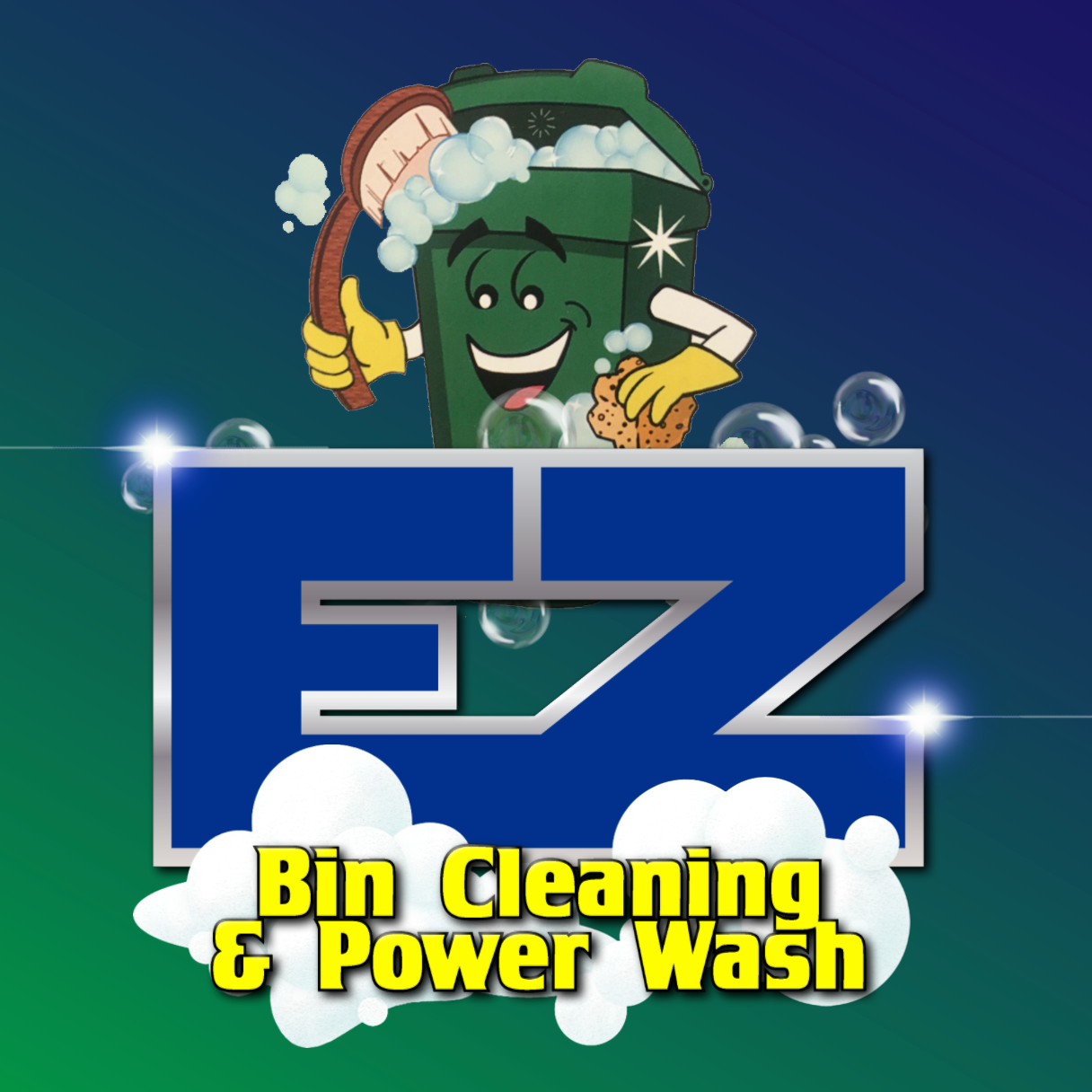 EZ Trash Bin Cleaning & Power Washing logo