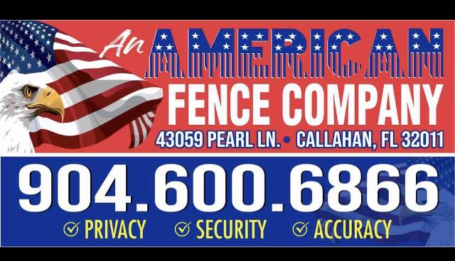 An AMERICAN Fence Company  logo